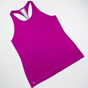 Athleta Racerback Workout Tank Pink and Grey - M